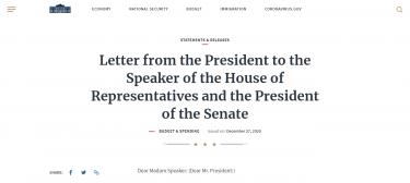 トランプ大統領コロナ救済法案に署名